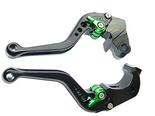 LUO CNC Short Brake Clutch Levers for Kawasaki NINJA 650RER-6FER-6N 2009-2016NINJA 400R 2011VERSYS 650cc 2009-2014-Black