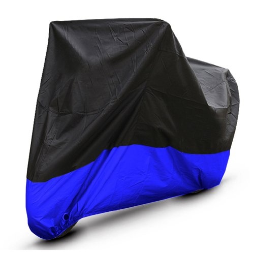 Black Blue Motorcycle Cover For Kawasaki KZ650 Cafe Racer UV Dust Protector L
