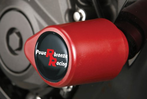 Powerbronze 513-Y106-005 badged crash post set to fit Yamaha YZF-R6 red high impact plastic