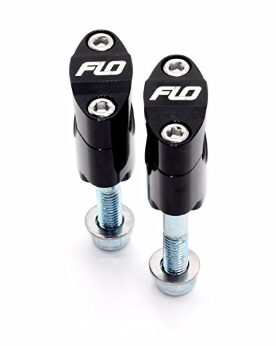 Flo Motorsports Black Rubber Mounted Universal Over-Sized 1 18 Handle Bar Mounts