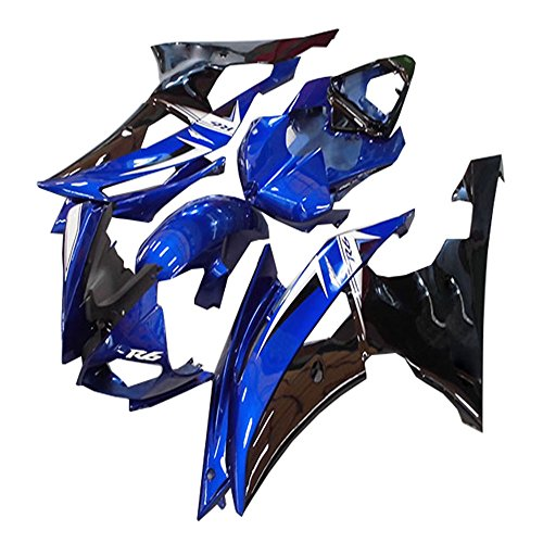 Black Blue Fairing Fit for Yamaha 2008-2015 YZF R6 New ABS Injection Mold Bodyframe Plastic Kit