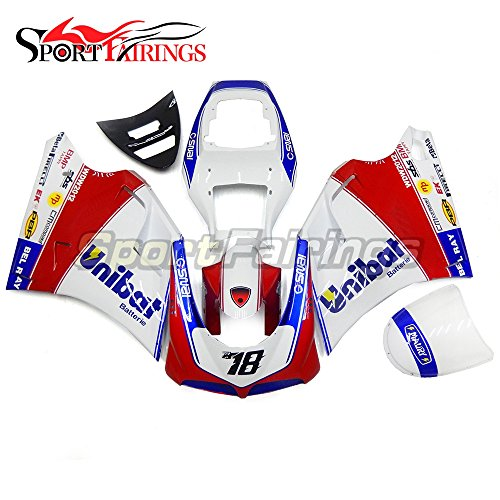 Sportfairings Complete Injection ABS Fairing Kits For DUCATI 996 748 916 998 Biposto 1996-2002 Biposto Motorcycle Body Kits White Red Blue