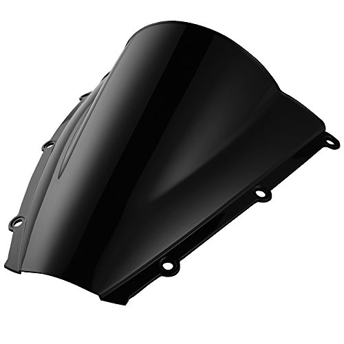 Double Bubble Windscreen Windshield For Honda CBR600RR 2003 2004 Black
