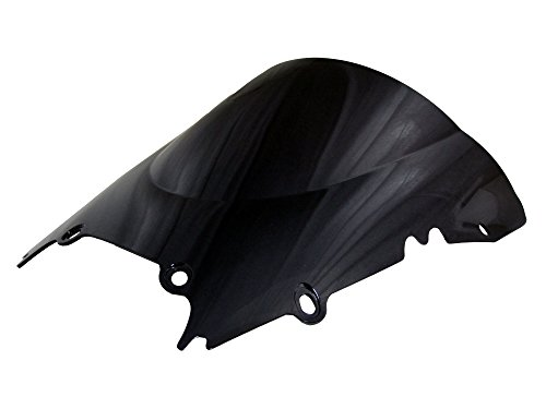 1998-2002 98-02 1998 1999 2000 2001 2002 Yamaha YZF-R6 Double Bubble Dark Smoke Windscreen Injection Molding with Polycarbonate
