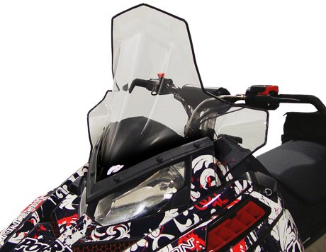 PowerMadd 11840 Cobra Windshield for Polaris Pro-Ride Chassis - Clear with black fade - Tall height