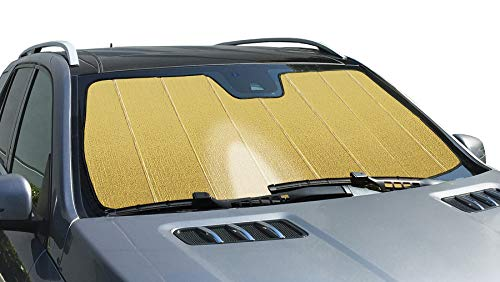 Intro-Tech Automotive KI-44-RG Gold Ultimate Reflector Custom Fit Folding Windshield Sunshade for Select Kia Stinger Models