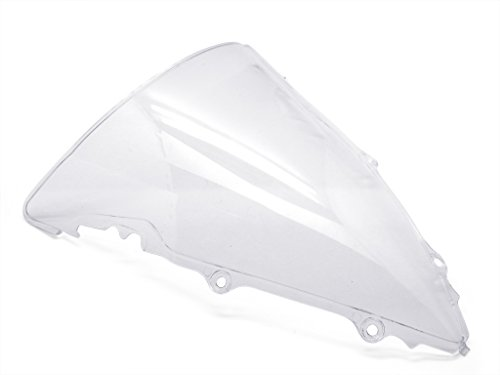 9sparts Clear Double Bubble Transparent Windscreen Windshiled for 2003 2004 2005 Yamaha YZF R6 2006 2007 2008 2009 R6S