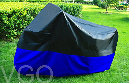 Motorcycle Cover For Harley VRSCDX NIGHT ROD SPECIAL UV Dust Prevention XL Black Blue