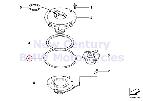 BMW Genuine Motorcycle Filler Cap O-Ring 73X53 R1100GS R1100R R850 R1100RS R1100S R1100RT R1200C R1200 Montauk R1200C Independent R1200CL R1150GS R1150 Adventure R1150RS R1150RT R1150R R1150R Rockste