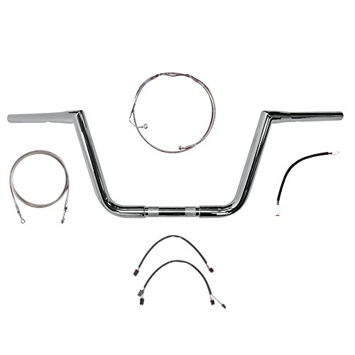 Hill Country Customs 1 14 Chrome 10 Twin Peaks Handlebar Kit for 2017 and Newer Harley Road King models with ABS brakes - BC-0601-2783-RK17-ABS