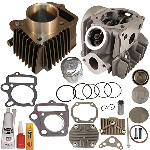 ZOOM ZOOM PARTS HONDA CRF 70 CRF70F CRF70 CYLINDER PISTON RINGS GASKET CYLINDER HEAD 2004 - 2008