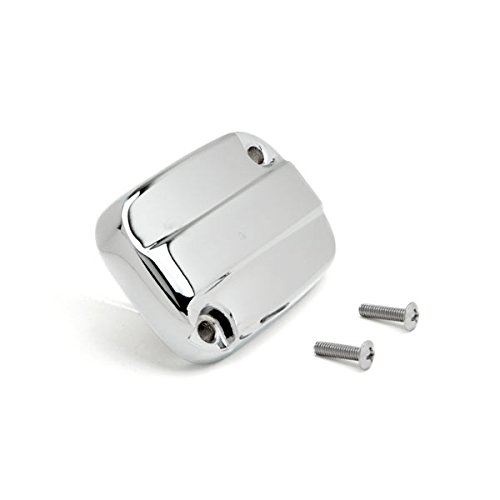 Krator Front Brake Fluid Cap Chrome Billet Reservoir Cap For 2013-2014 Harley Davidson Road King