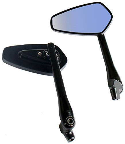 One Pair Black Arrow Rear View Mirrors for 2005 Harley-Davidson Road King Police Escort EFI wABS FLHPEI