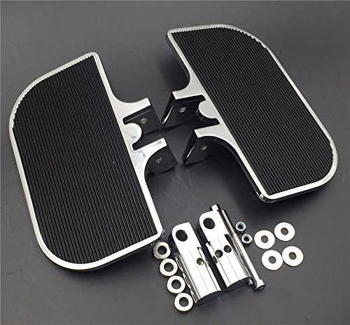 HK Moto Motorcycle Chrome Passenger Mini Floorboards Rear Footboards Foot Rest Pegs Mounts Fit Harley-Davidson Electra Glide Heritage Softail Fat Boy