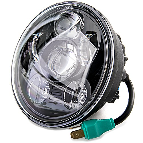 5-34 LED Projection Daymaker Headlight For Harley Sportster XL 883 1200 Dyna for Harley Davidson Dyna Super Glide Custom FXDC 2005-2009