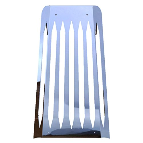 Blade Polished Stainless Radiator Cover Grill Guard fits 2010-2016 Honda Fury VT1300 - Ferreus Industries - GRL-100-11