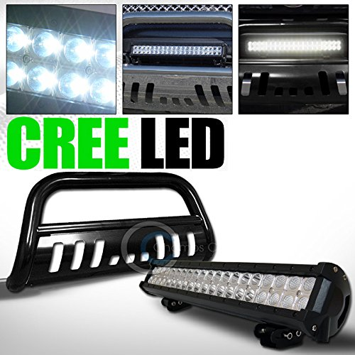 ST Racing BLACK STEEL BULL BAR BUMPER GUARD120W CREE LED FOG LIGHT 1998-2011 FORD RANGER