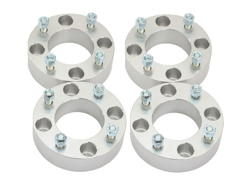 4 2 Thick 4x137 ATV Wheel Spacers with 10x125 StudsNuts for Kawasaki Can Am Can-Am Bayou Brute Force Mule Prairie Outlander Commander Maverick Outlander Renegade Bombardier 4137 Silver