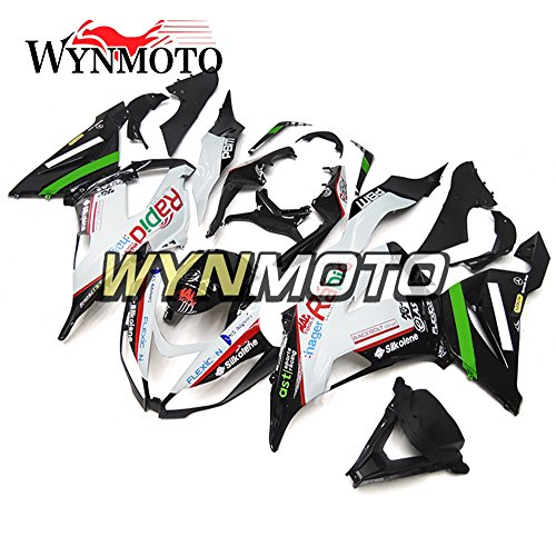 WYNMOTO ABS Plastic Injection Motorcycle Full Fairing Kit Cowlings For Kawasaki ZX6R 2013 2014 2015 2016 ZX-6R 13 - 16 White Black Red Sportbike Covers