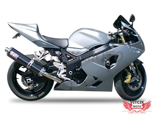 VITCIK Fairing Kits Fit for Suzuki GSX-R750 GSX-R600 K4 2004 2005 GSXR 600 750 K4 04 05 Plastic ABS Injection Mold Complete Motorcycle Body Aftermarket Bodywork Frame Silver A133
