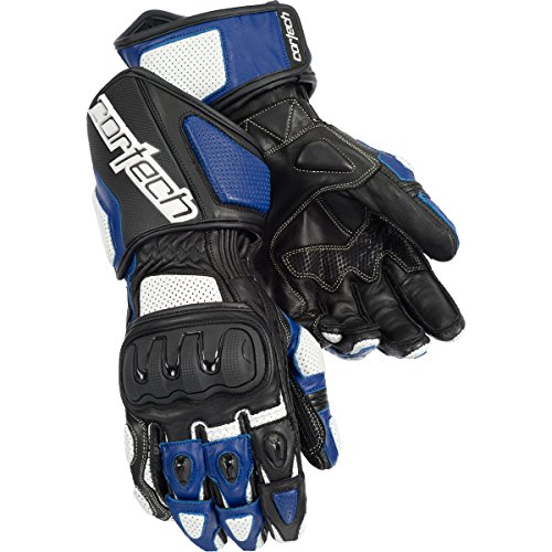 Cortech Impulse Rr Adult Textile Street Bike Motorcycle Gloves - White/blue / 2x-large