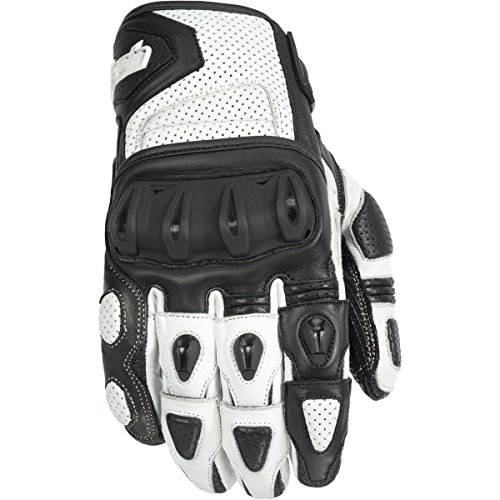 Cortech Impulse St Adult Street Bike Motorcycle Gloves - White/black / X-large