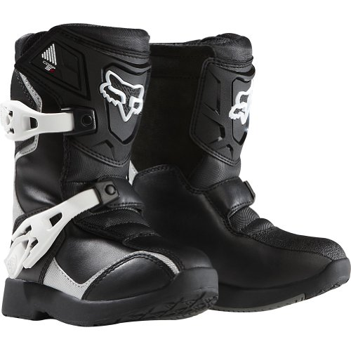 Fox Racing Pee Wee Comp 5K Youth Boys Off-RoadDirt Bike Motorcycle Boots - BlackSilver  Size 12
