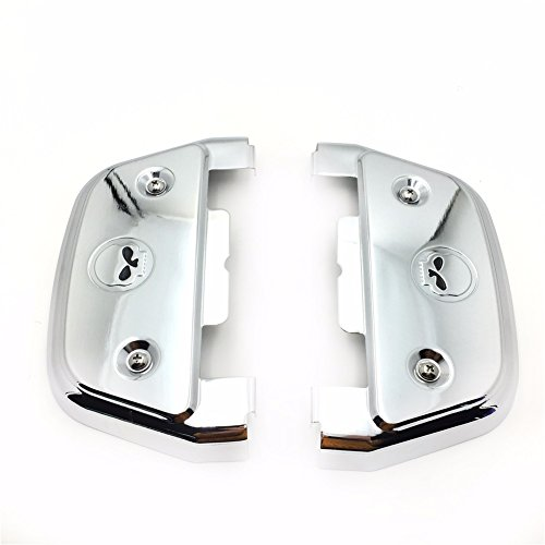 Chrome Skull Passenger Footboard Covers For 2006-later Dyna 1986-later FL Softail 1987-later Touring and Trike models with traditional D-shaped aluminum passenger footboards