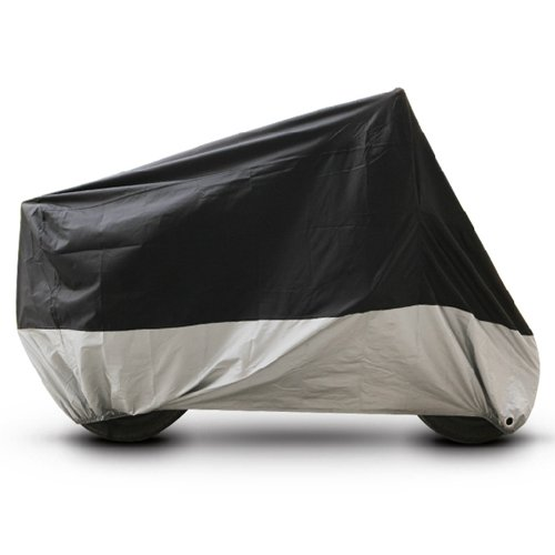 Black Silver Motorcycle Cover For Harley Davidson Fatboy  FXD VRod UV Dust Prevention XL