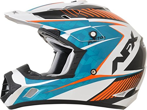 AFX FX-17Y Factor Complex Youth Motocross Helmets - BlueOrange - Youth Small