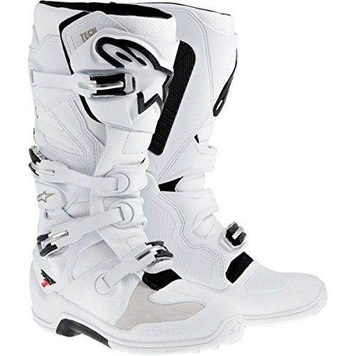 Alpinestars Tech 7 Mens Off-Road Motorcycle Boots - White  Size 9