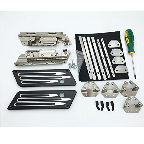 Billet Aluminum Latches Cover Hinges Hard Saddlebag Hardware Kit With Lock Set For Harley Touring 1993-2013