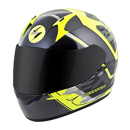 Scorpion EXO-R410 Unisex-Adult Full Face Motorcycle Helmet NeonSilver Small Convoy