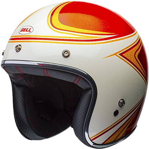Bell LE Custom 500 Copperhead OrangeWhite Open Face Helmet M