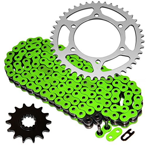 Caltric Green O-Ring Drive Chain Sprockets Kit Fits KAWASAKI EX250-K Ninja 250R SE 2009-2012