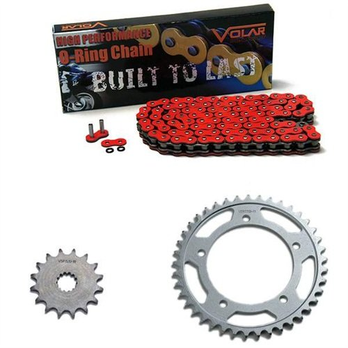 2007-2014 Triumph Thruxton 865 O-Ring Chain and Sprocket Kit - Red