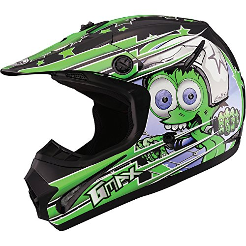 GMAX GM462 Superstar Youth Boys Motocross Motorcycle Helmet - BlackGreen  Large