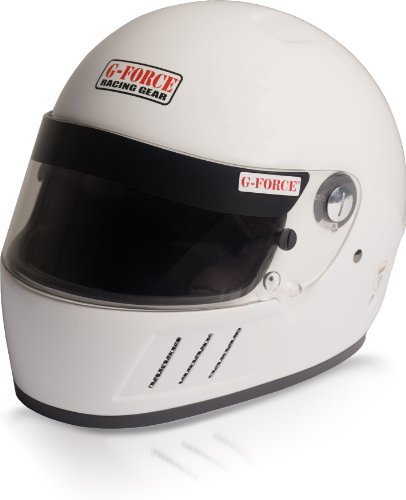 G-Force 3023XXLWH Pro Eliminator White XX-Large SA10 Full Face Racing Helmet
