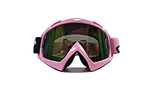 CRG Sports Baby Pink Motocross ATV Dirt Bike Off Road Racing Goggles T815-7-10A Multi-Color Lens Pink Frame