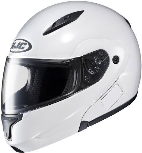 HJC Polycarbonate CL-MAX II Solid White Modular Helmet with Clear Lens - 4X-Large 0845-0209-10