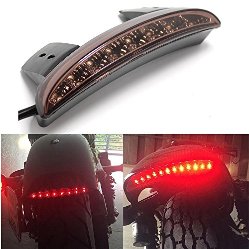 Motorcycle Smoke LED Stop Brake License Plate Rear Tail Light Stop Running Light for HarleySmoke Lens