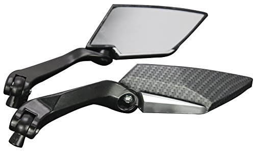 BLACK CARBON MOTORCYCLE CRUISER CUSTOM REARVIEW MINI MIRRORS FOR 2011 KTM 990 Supermoto R
