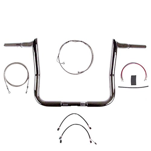 1 14 Chrome 14 Diablo Handlebar Kit for 2014-2015 Harley-Davidson Street Glide Ultra Classic models with ABS brakes - BC-693658-ESG15A
