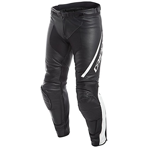 Dainese Assen Mens Leather Motorcycle Pants BlackWhite 58 Euro405 USA