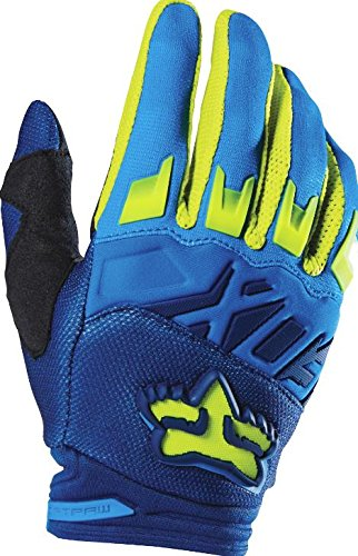 Fox Racing 2016 Dirtpaw Race Mens MotoX Motorcycle Gloves - BlueYellow  Medium