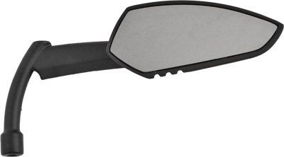 HardDrive Universal Apache Matte Black Left Mirror with Knife Stem for Harley D - One Size