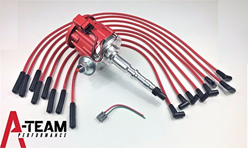 A-Team Performance AMC JEEP 67-90 290 304 343 360 390 401HEI DISTRIBUTOR 65K RED SPARK PLUG WIRES