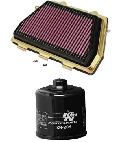 K&N Motorcycle Air Filter  Oil Filter Combo 2008-2014 Honda CBR1000RR HA-1008  KN-204
