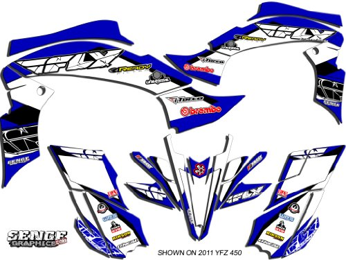 Senge Graphics All Years Yamaha Raptor 350 13 Fly Racing Blue Graphics Kit