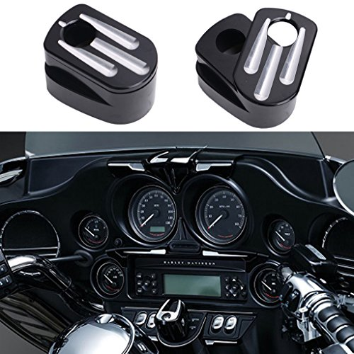 Jade Black Deep Cut Ignition Switch Cover For Harley Touring Street Road Glide 2014-2017